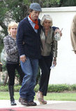 Matthew McConaughey looked noticeably thin leaving church services.