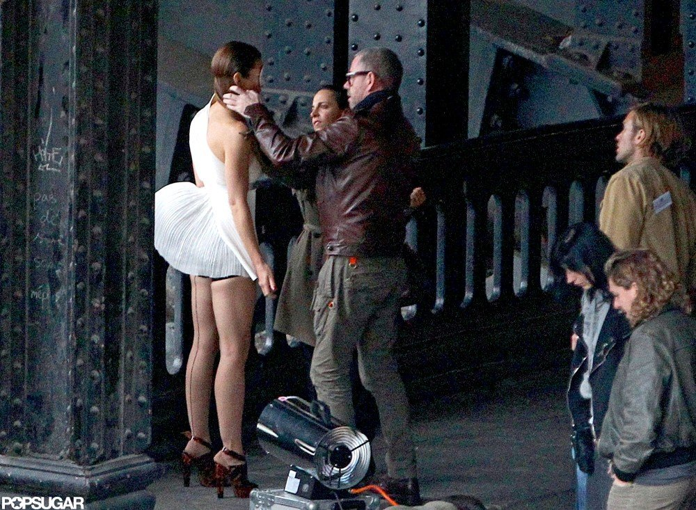 Jessica Biel got some touch-ups while shooting.