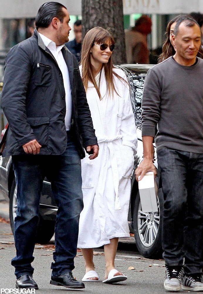 Jessica Biel arrived at a photo shoot in Paris.