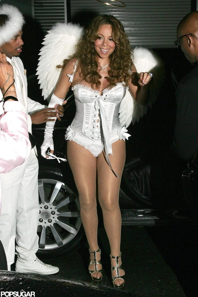 Mariah Carey was a vision in white while wearing an angel costume to a party in 2009.