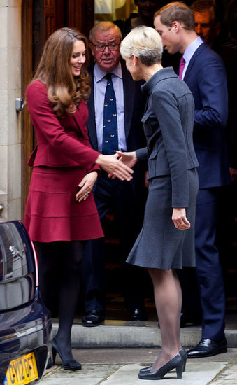 Kate Middleton and Prince William were greeted as they arrived at Middle Temple.