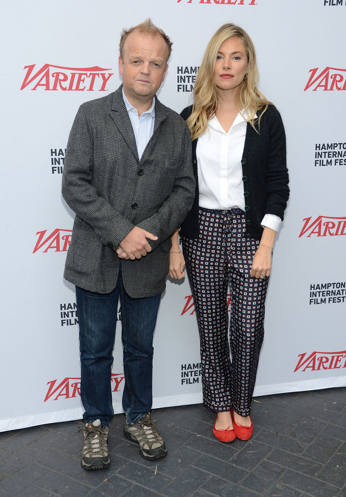 Sienna Miller posed with Toby Jones at the Hamptons International Film Festival.