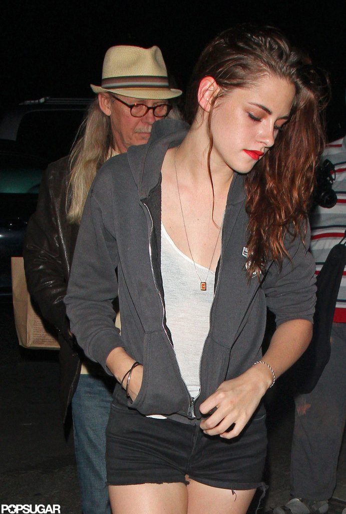Kristen Stewart and her dad John Stewart attended a Florence and the Machine concert together.