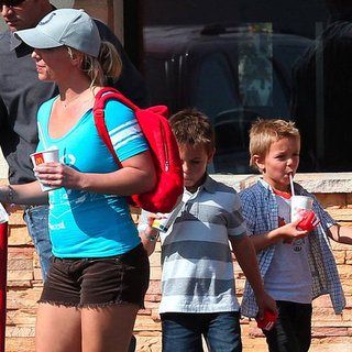 Britney Spears at McDonald's With Her Kids