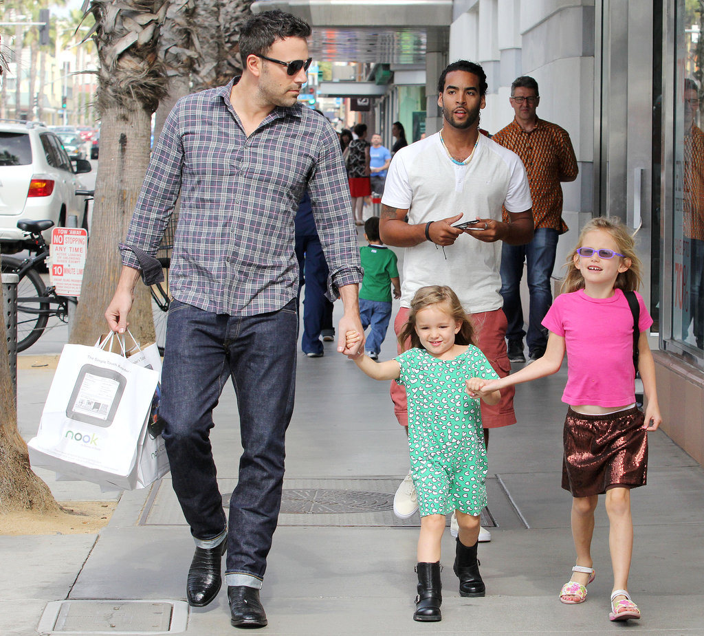 Ben Affleck Has Daddy Day With Violet and Seraphina