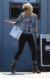 Gwen Stefani left a rehearsal session in LA.