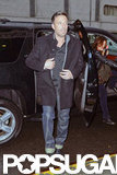 Ben Affleck wore a coat over his clothes.