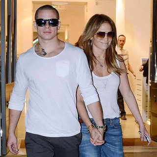 J Lo and Casper Smart With Max and Emme in Spain