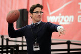 Matt Bomer tried for a touchdown at a pre-Super Bowl event held in Indianapolis, IN, in February 2012.