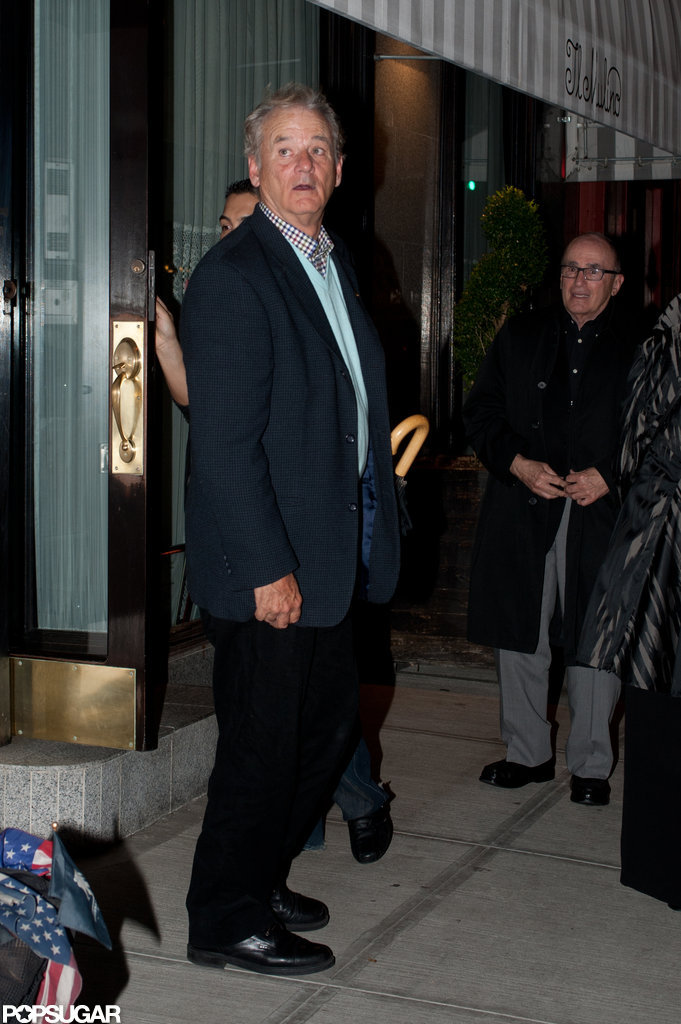 Bill Murray left Il Mulino.
