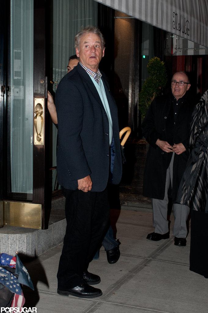 Bill Murray left Il Mulino.