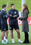 Kate Middleton met with athletes.