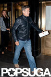 George Clooney and Stacey Keibler went out for dinner in Manhattan.
