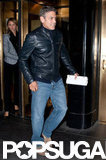 George Clooney and Stacey Keibler left their hotel to meet pals at Il Mulino in NYC.