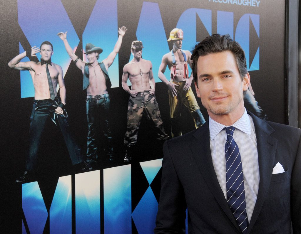 Matt Bomer struck a pose in front of a Magic Mike poster at the June 2012 LA premiere of the film.