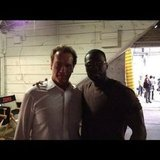 50 Cent went on the set with Arnold Schwarzenegger. Source: Instagram user 50cent