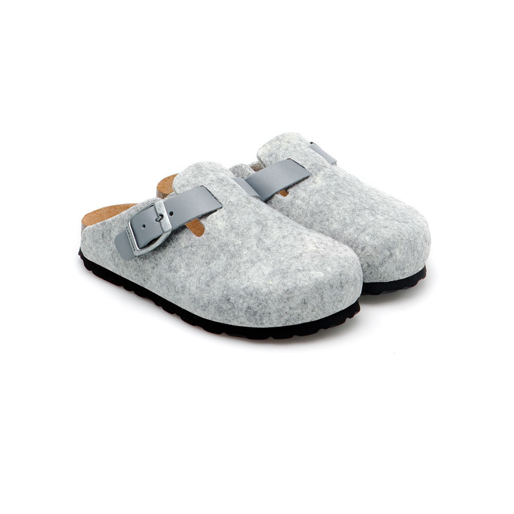 Gray Felt Slippers