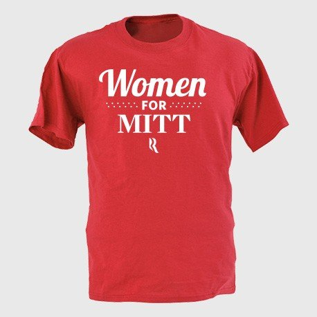Plan to vote for Romney? Sport the Women For Mitt T-Shirt ($30) to share your message.