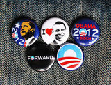Add these Barack Obama 2012 Pins ($4 for five) to your bag or clothing.