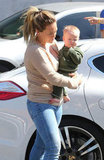 Hilary Duff gave Luca Comrie a lift in Beverly Hills.