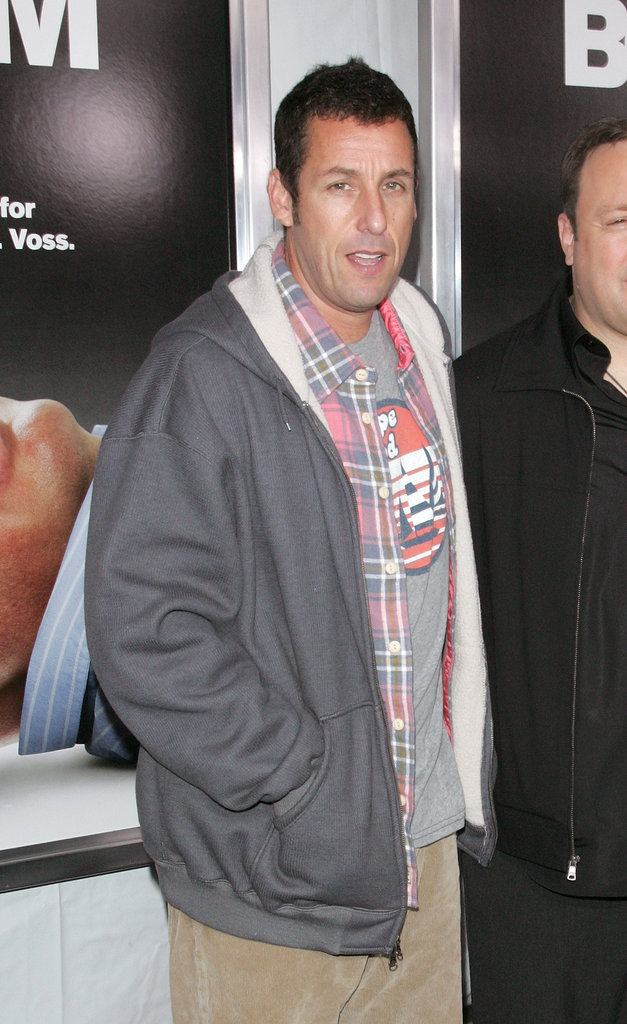 Adam Sandler kept it casual at the premiere.