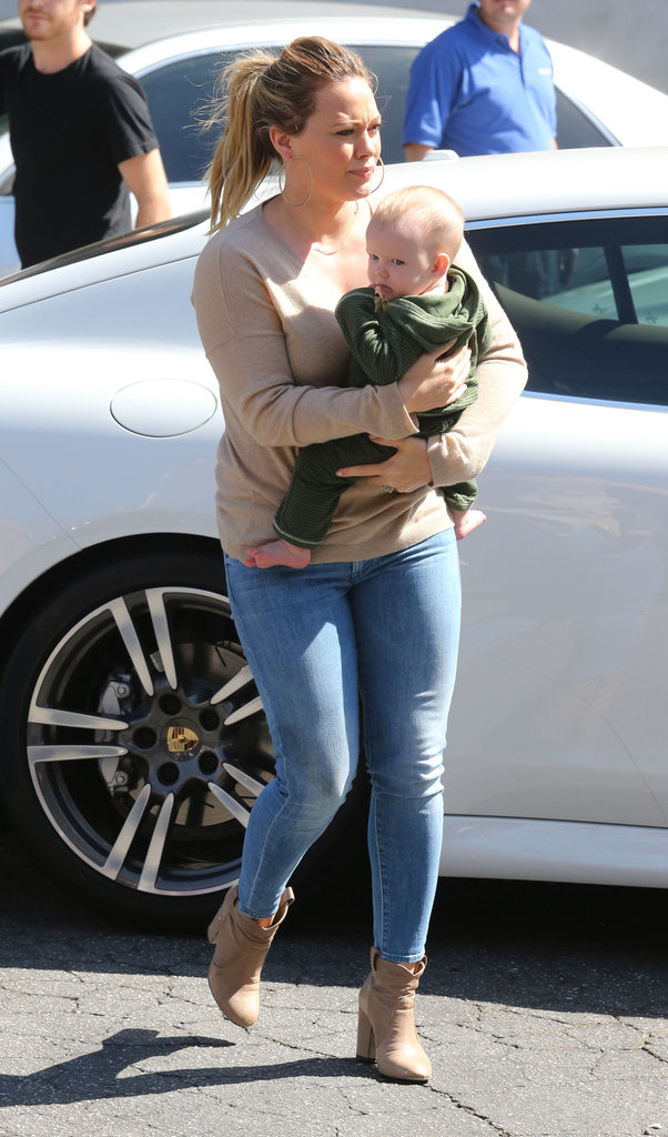 Hilary Duff and Luca Comrie ran an errand in Beverly Hills.