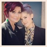 Kelly Osbourne joined her mom, Sharon.