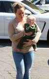 Hilary Duff took Luca Comrie to run an errand with her in Beverly Hills.