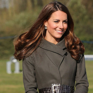 Pictures of Kate Middleton in Paule Ka Burgundy Skirt Suit and Reiss Khaki Coat: Steal HRH's New Season Colour Palette!