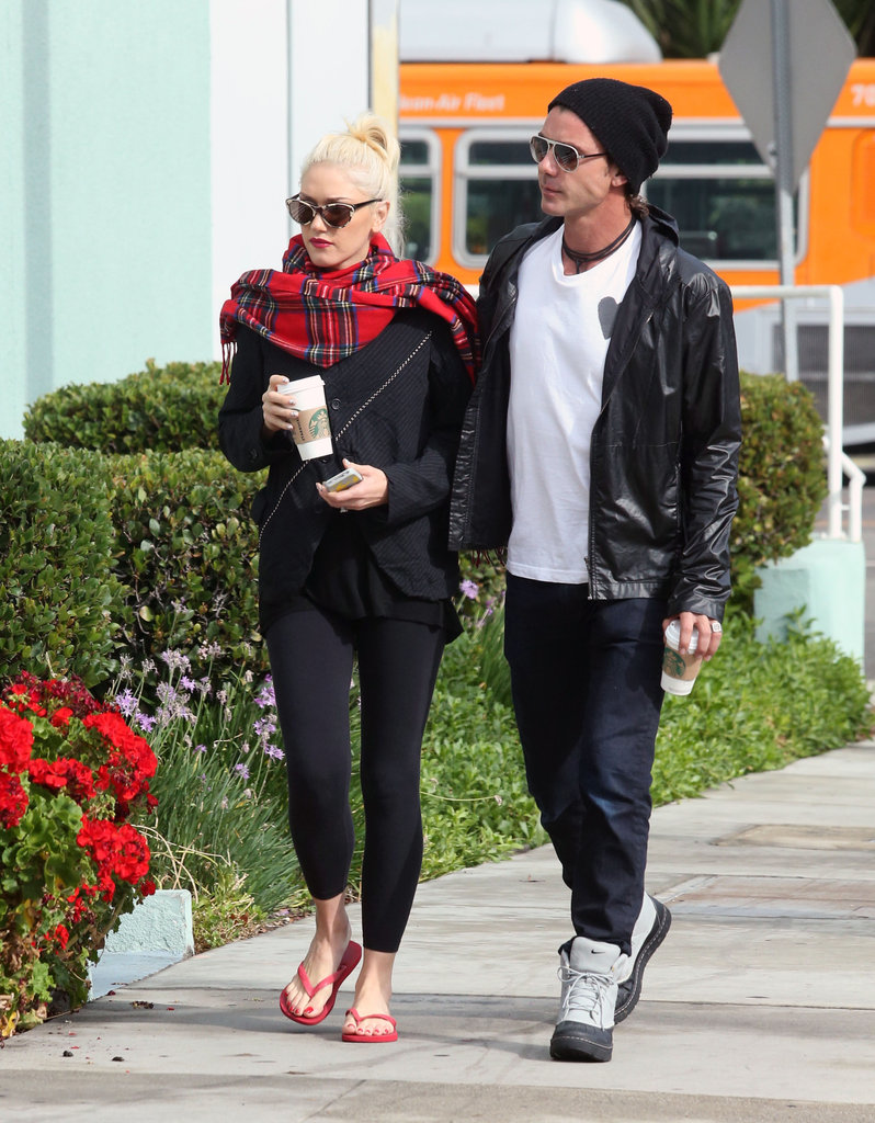 Gwen Stefani and Gavin Rossdale walked together during an October 2012 coffee run in LA.