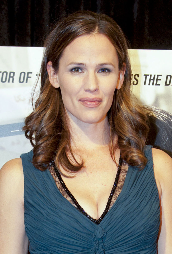 Jennifer Garner showed some cleavage in a Roberto Cavalli gown at husband Ben Affleck's Argo premiere in Washington DC.