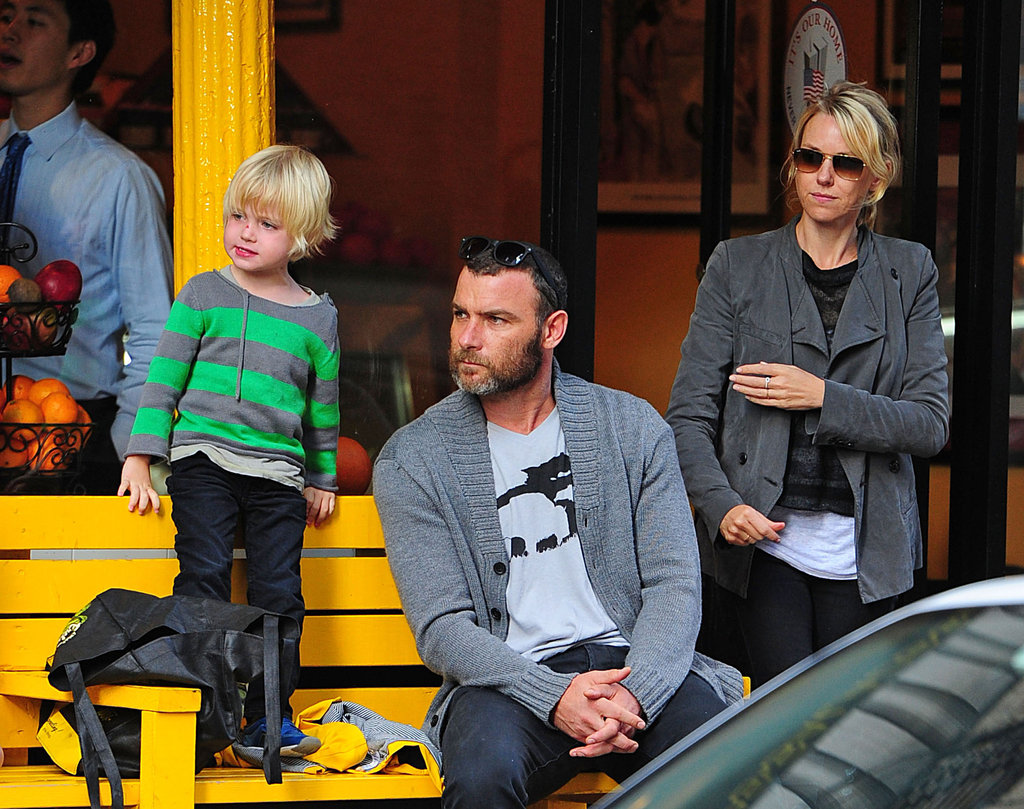 Naomi Watts, Liev Schreiber, and Kai had a family day in NYC.