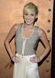 Miley Cyrus attended the LA gala.