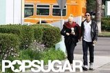 Gwen Stefani and Gavin Rossdale stopped for coffee in LA.