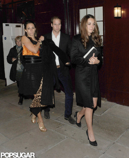 Kate Middleton and Prince William left Loulou's in London.