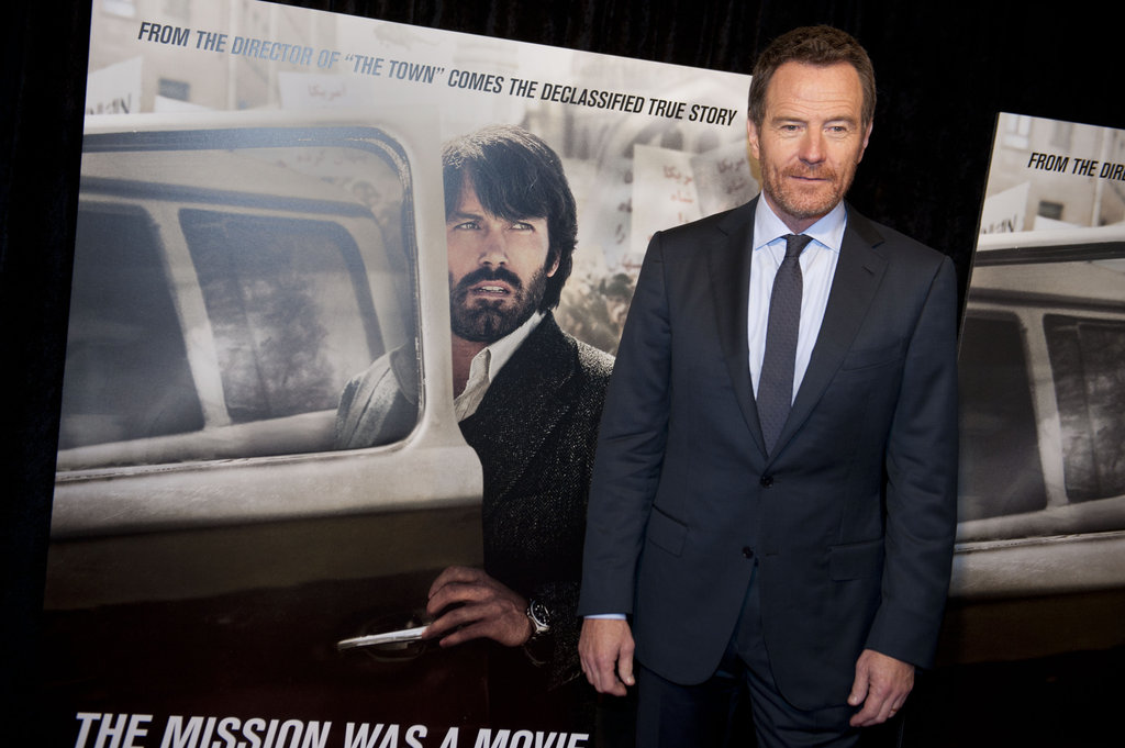 Bryan Cranston posed at his Argo premiere in Washington, DC.