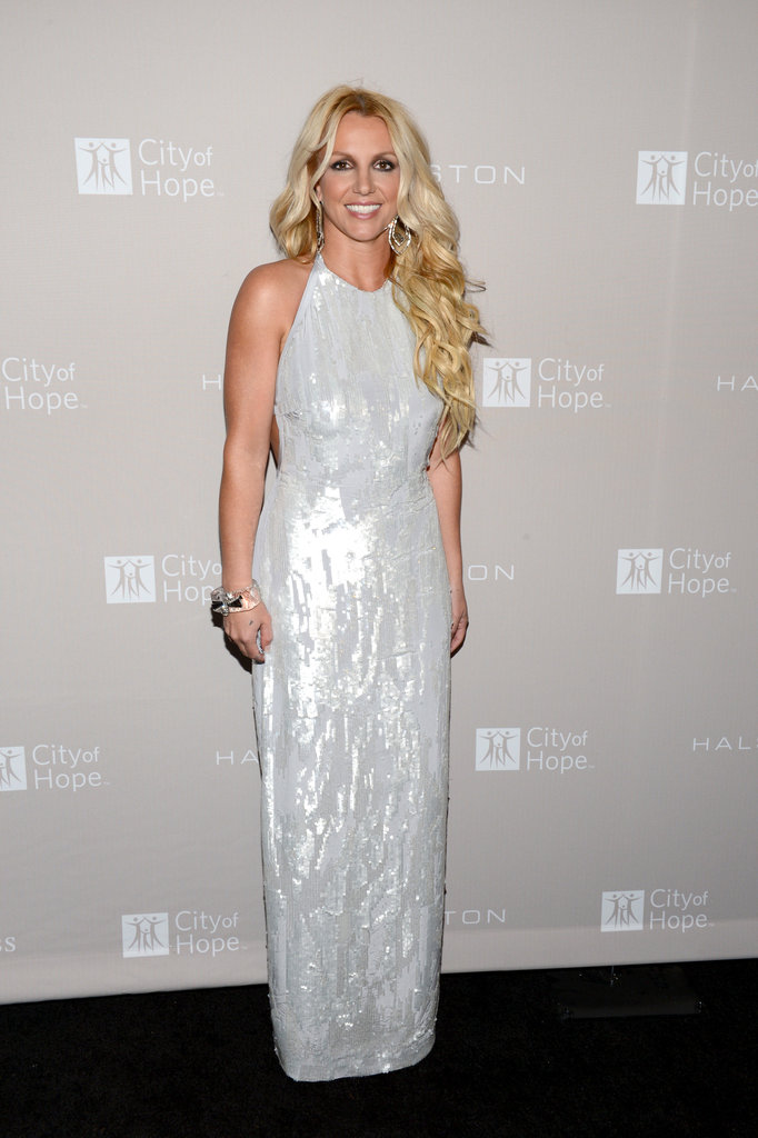 Britney Spears chose a Halston Heritage dress to attend the gala in LA.
