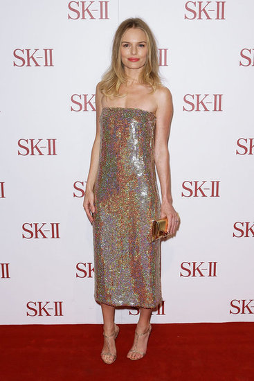 Kate Bosworth wore a sequin gown on the red carpet.
