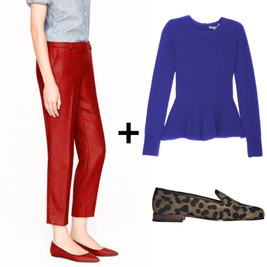 Fall Fashion Formula: Peplum Sweater + Cropped Wool Pants + Oxfords