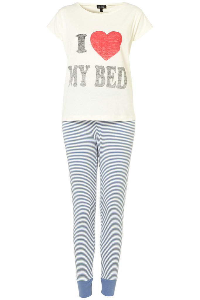 This Topshop I Heart My PJ Set ($50) says it all.