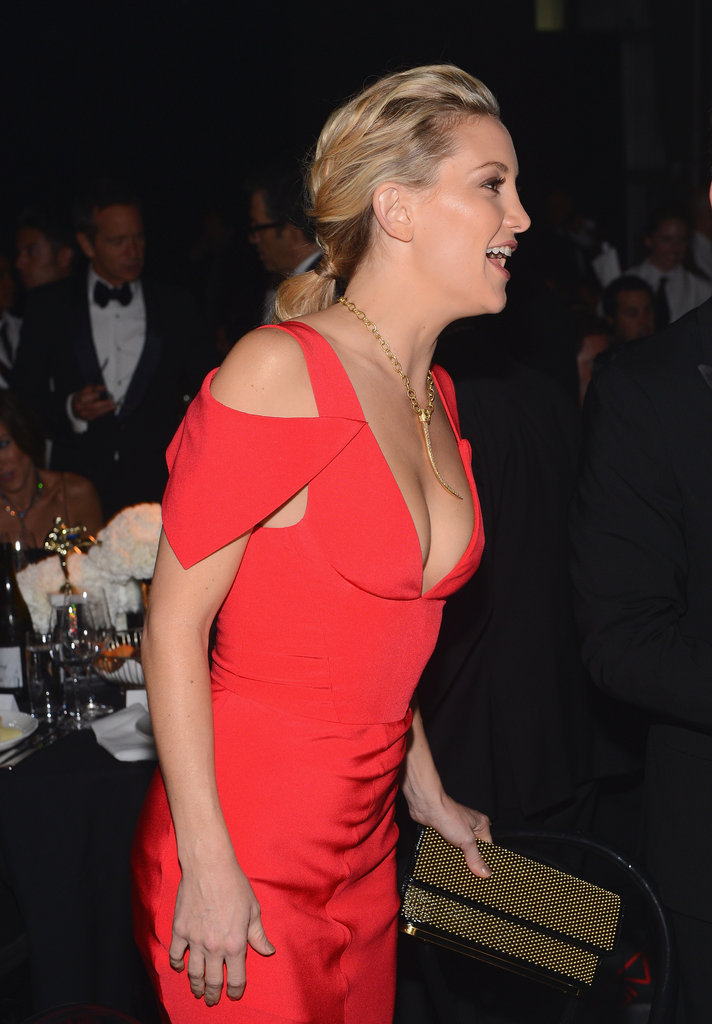 Kate Hudson wore red to the amfAR Gala in LA.