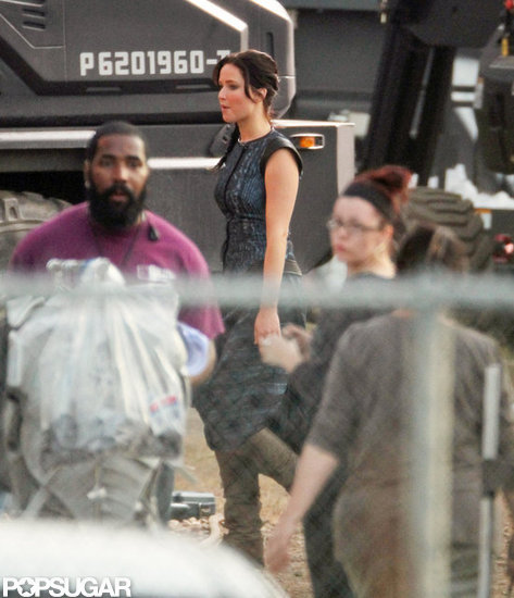 Jennifer Lawrence Emerges as Katniss on the Catching Fire Set