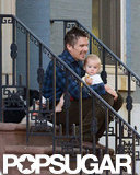 Ethan Hawke spent some time with his youngest child in NYC.