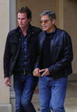 George Clooney lunched with Rande Gerber in LA.