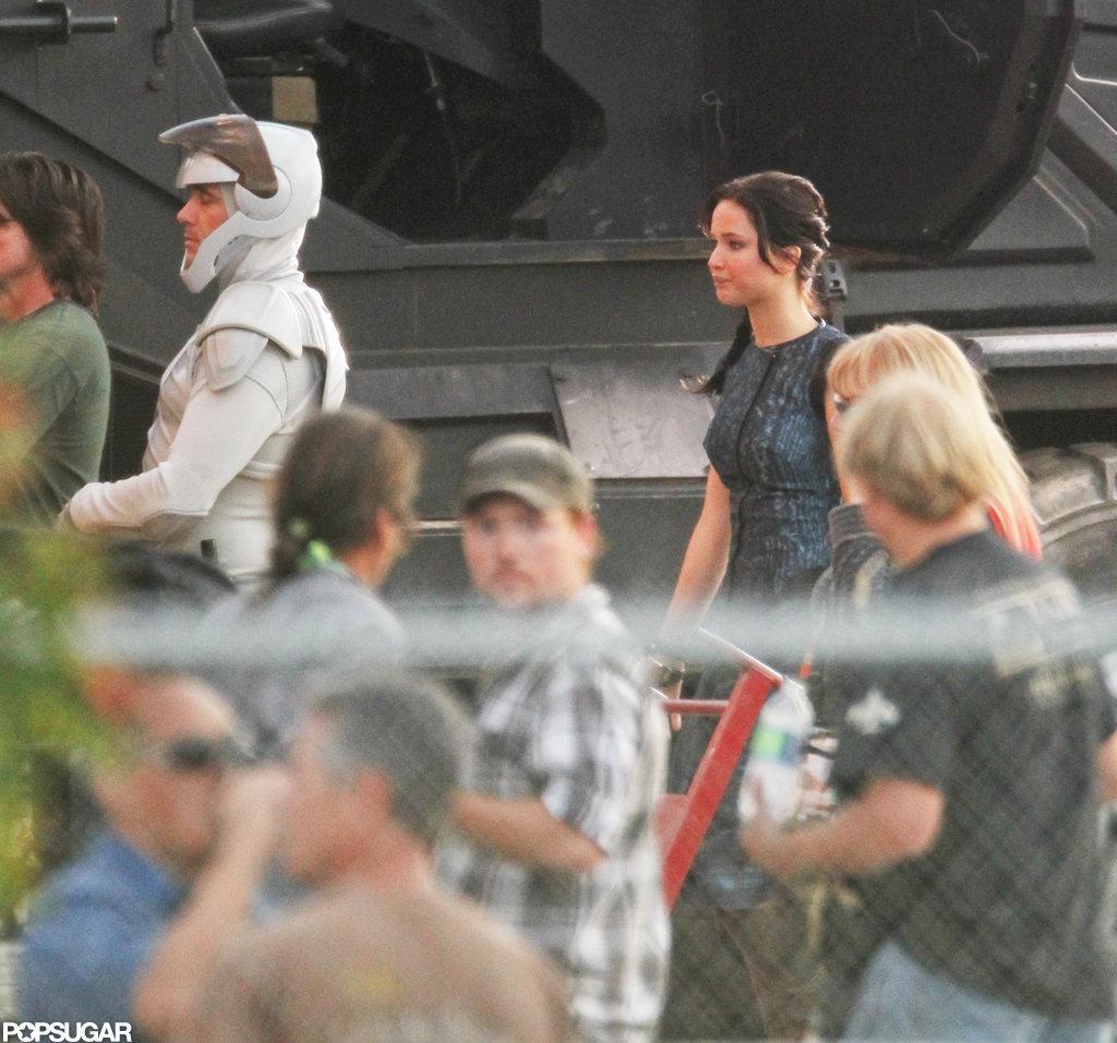 Jennifer Lawrence was on set in Atlanta