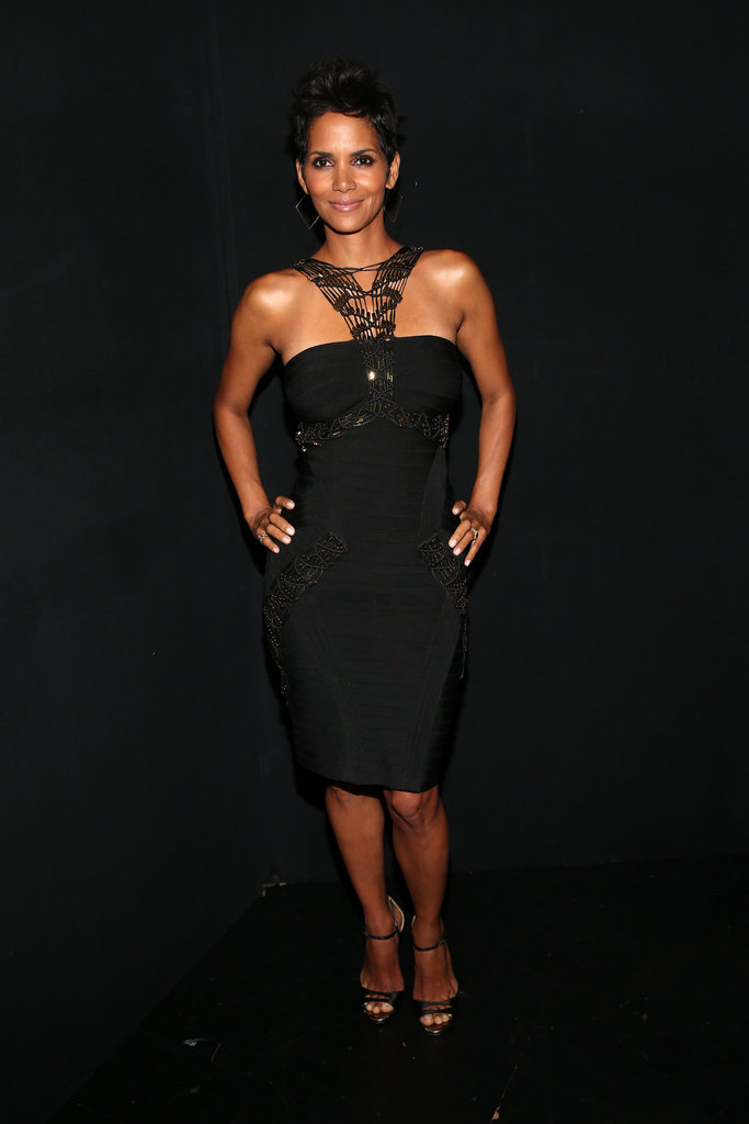 Halle Berry attended the Grammy tribute to Whitney Houston in LA.