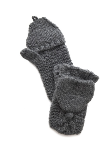 A simple solution to keeping your fingers warm but maintaining easy access to typing on your phone: Bop Basics' fisherman pop over gloves ($45) are it.