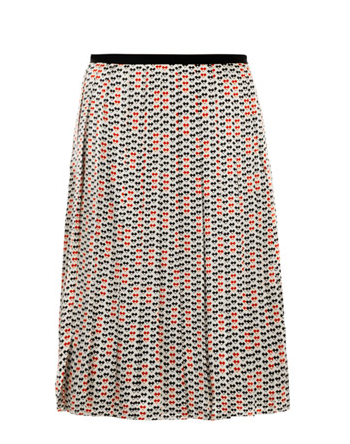 Further the flair of this Raoul Silk Print Pleated Skirt ($300) with an equally bold print on top or temper it with a sleek blouse — either way, you can't go wrong.