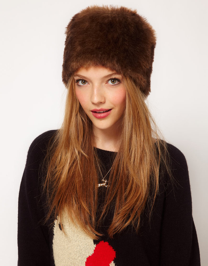 "There's definitely a ""to Russia with love"" vibe in the air, and we're embodying it with plush faux fur and luxe shapes — with that, this ASOS faux fur cossack hat ($26) is a good place to start."