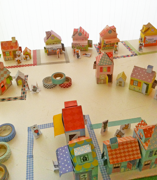 A Washi Tape Village